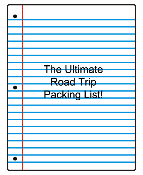 the ultimate road trip packing list
