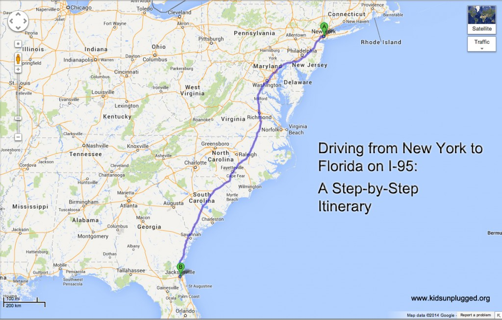 driving from new york to florida a step by step