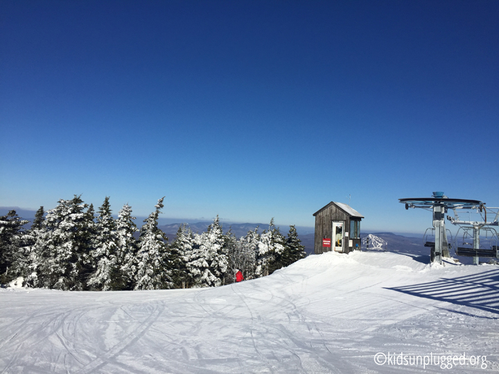 Bluebird skies and great conditions at Stratton Mountain Resort, Vermont