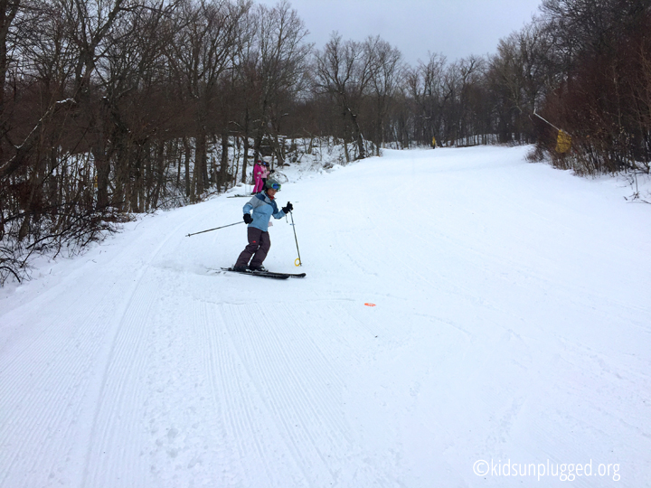 Running drills at Stratton Resort's Women on Snow Camp, Vermont