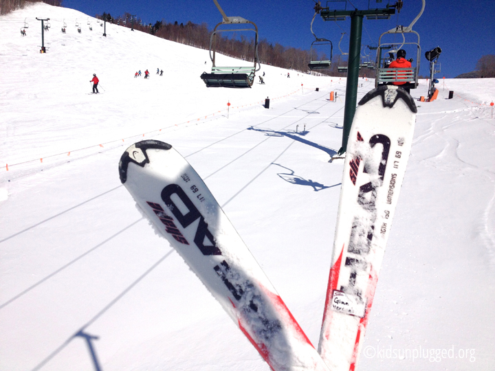 Learning to ski at Stowe Mountain Resort